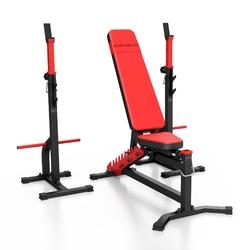 Zestaw ms30 | ławka dwustronnie regulowana + stojaki regulowane - marbo sport - brak