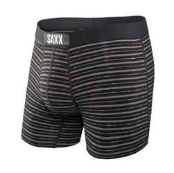 Bokserki męskie saxx vibe boxer brief black gradient stripe - czarny