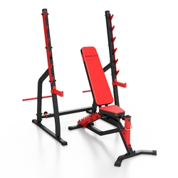 Zestaw ms3 | ławka dwustronna + stojaki wielopoziomowe - marbo sport