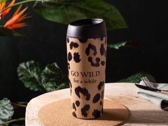 Kubek termiczny do herbaty i kawy  napojów gorących i zimnych  samochodowy pantera 400 ml