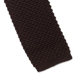 Klasyczny brązowy krawat knit marki hemley