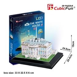 Puzzle 3D LED Biały Dom 56 elementów - White House