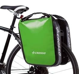 Sakwy rowerowe crosso dry big 60l - adventure jasno zielony