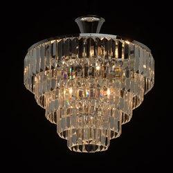 Błyszczące, kryształowe oświetlenie sufitowe adelard mw-light crystal 642010705