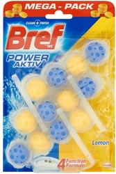 Bref Power Aktive Lemon, zawieszka do toalety 50g, 3 sztuki