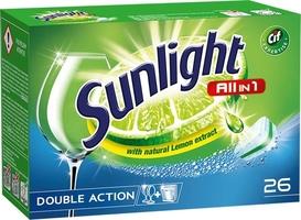 Sunlight, all in one regular, tabletki do zmywarek, 26 sztuk