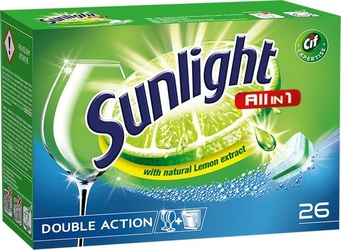 Sunlight, all in one regular, tabletki do zmywarek, 26 sztuk