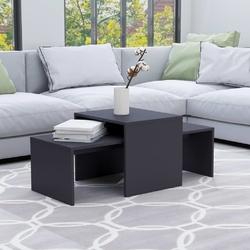 Vidaxl stolik kawowy, szary, 100x48x40 cm, płyta wiórowa