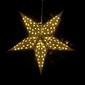 Gwiazda papierowa 10 led na baterie, żółta