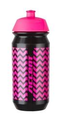Bidon accent zigzac czarno-różowy fluo 500 ml