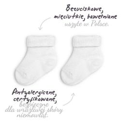 Skarpetki bezuciskowe 2 pary colorstories białe - białe