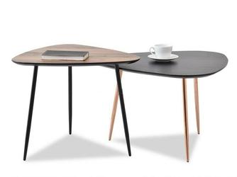 Zestaw stolików kawowych reson 3 industrialny