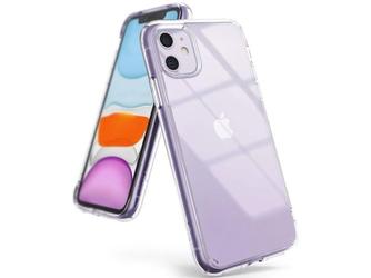 Etui ringke fusion do apple iphone 11 clear + szkło alogy - przezroczysty