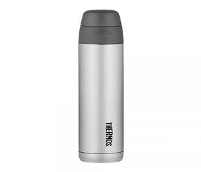 kubek termiczny ze słomką thermos style 530 ml stalowyczarny