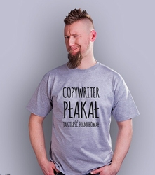 Copywriter płakał t-shirt męski jasny melanż xxl