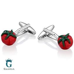 Spinki do mankietów x2 czerwony pomidor