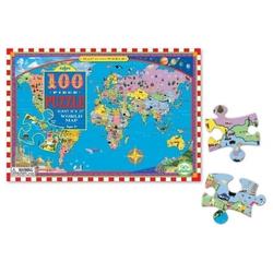 Mapa świata puzzle 100 elementów