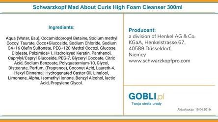 Schwarzkopf mad about curls high foam cleanser szampon w formie pianki 300ml
