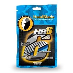 Headblade hb6 zapasowe wkłady do maszynki 6 ostrzy 4 szt