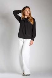 Czarna elegancka bluzka z wiązaniem plus size