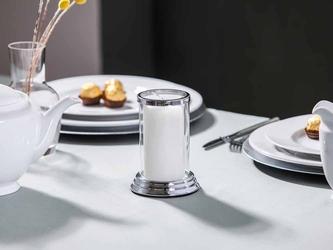Świecznik  lampion dekoracyjny szklany altom design srebrny 10 x 14,5 cm