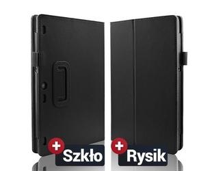 Czarne etui typu stand cover lenovo tab 2 a10-70 + szkło hartowane+rysik - czarny