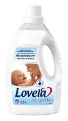 Lovela, białe tkaniny, hipoalergiczne mleczko do prania, 16 prań, 1.5l