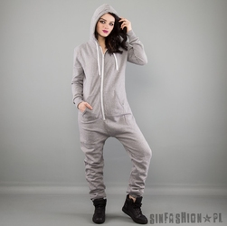 Kombinezon uc - jumpsuit hooded grey