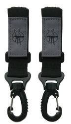 Uniwersalne zaczepy na torbę do wózka - lassig casual label - czarne