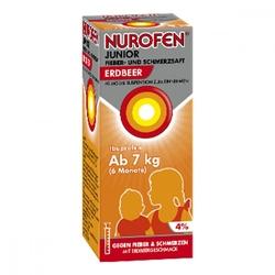 Nurofen junior sok na ból i gorączkę truskawkowy 40mgml