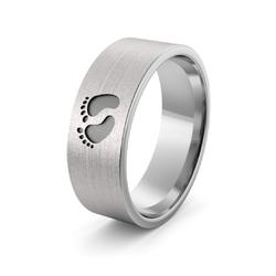 Obrączka srebrna ze stopkami - wzór ag-386