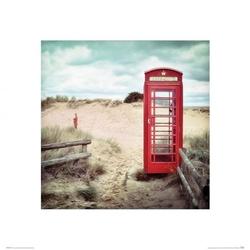 Budka telefoniczna na plaży - reprodukcja