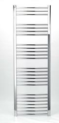 Grzejnik łazienkowy york - wykończenie zaokrąglone, 600x1500, chromowany