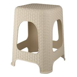 Taboret  stołek plastikowy bentom rattan beżowy