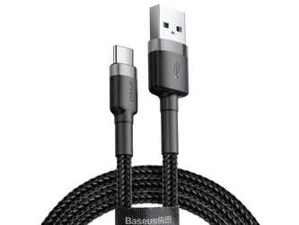 Baseus kabel usb-c 3a 1m grey black - czarny