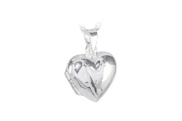 Srebrny wisiorek sekretnik serce