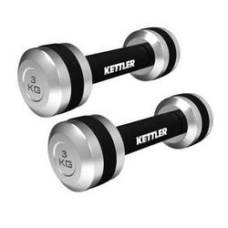 Hantle chromowane 2 x 3 kg - kettler - 2 x 3 kg