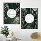 Zestaw dwóch plakatów - geometric jungle , wymiary - 40cm x 50cm 2 sztuki, kolor ramki - czarny
