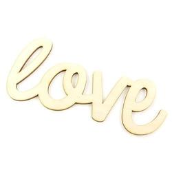 Drewniany napis love 19x9 cm