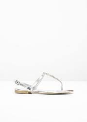 Sandały japonki bonprix srebrny