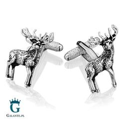 Spinki do mankietów jeleń kc-1044 onyx-art london