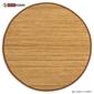 Dywan bambusowy, mata bambusowa okrągła brązowa 150 cm