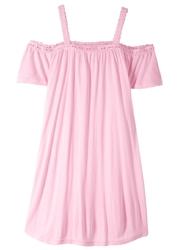 Sukienka z dekoltem quot;carmenquot; bonprix jasnoróżowy kryształowy