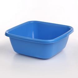 Miska  miednica kwadratowa plastikowa tontarelli 14 l niebieska