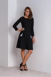 Czarna sukienka z kontrafałdą nubi