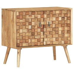 Vidaxl szafka, 75 x 35 x 65 cm, lite drewno akacjowe