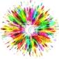 Naklejka kolorowe tło farby splash