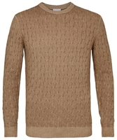 Sweter z fakturą camel s