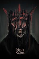 Władca pierścieni usta saurona - plakat premium wymiar do wyboru: 59,4x84,1 cm