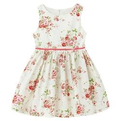 Bawełniana sukienka dla dziewczynki z pięknym kwiatowym wzorem